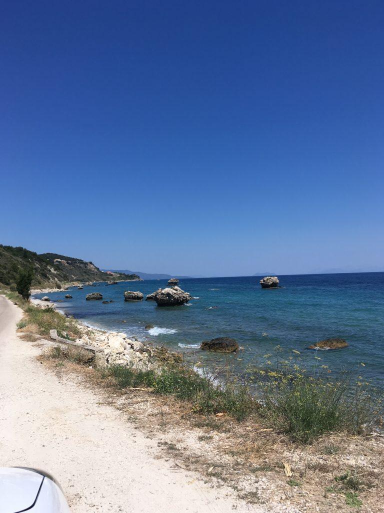 wild beach between Skala and Poros