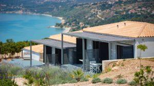 Kefi Spitia Guest house in Kefalonia view on Lourdas Bay